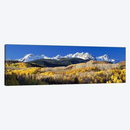 Autumn Landscape, Rocky Mountains, Colorado, USA 3-Piece Canvas #PIM105} by Panoramic Images Canvas Artwork