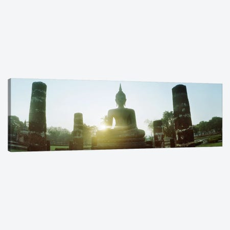 Statue of Buddha at sunset, Sukhothai Historical Park, Sukhothai, Thailand #2 Canvas Print #PIM10600} by Panoramic Images Canvas Wall Art