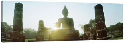 Statue of Buddha at sunset, Sukhothai Historical Park, Sukhothai, Thailand #2 Canvas Print #PIM10600