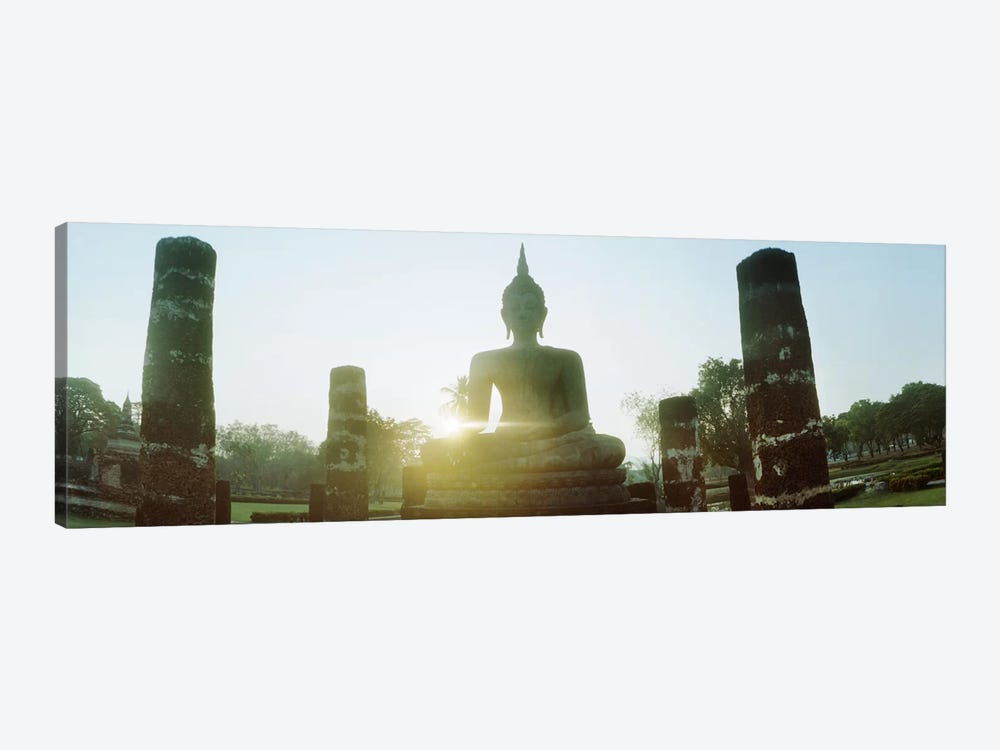 Statue of Buddha at sunset, Sukhothai Historical Park, Sukhothai, Thailand #2 by Panoramic Images 1-piece Canvas Wall Art