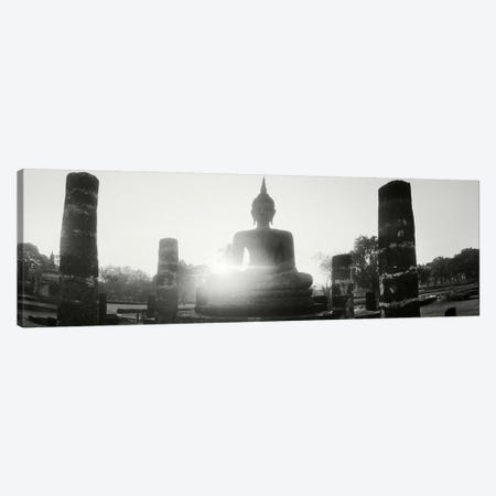 Statue of Buddha at sunset, Sukhothai Historical Park, Sukhothai, Thailand #3 Canvas Print #PIM10601} by Panoramic Images Canvas Art