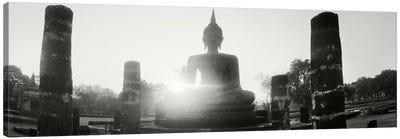 Statue of Buddha at sunset, Sukhothai Historical Park, Sukhothai, Thailand #3 Canvas Print #PIM10601