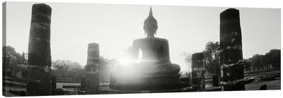 Statue of Buddha at sunset, Sukhothai Historical Park, Sukhothai, Thailand #3 Canvas Art Print