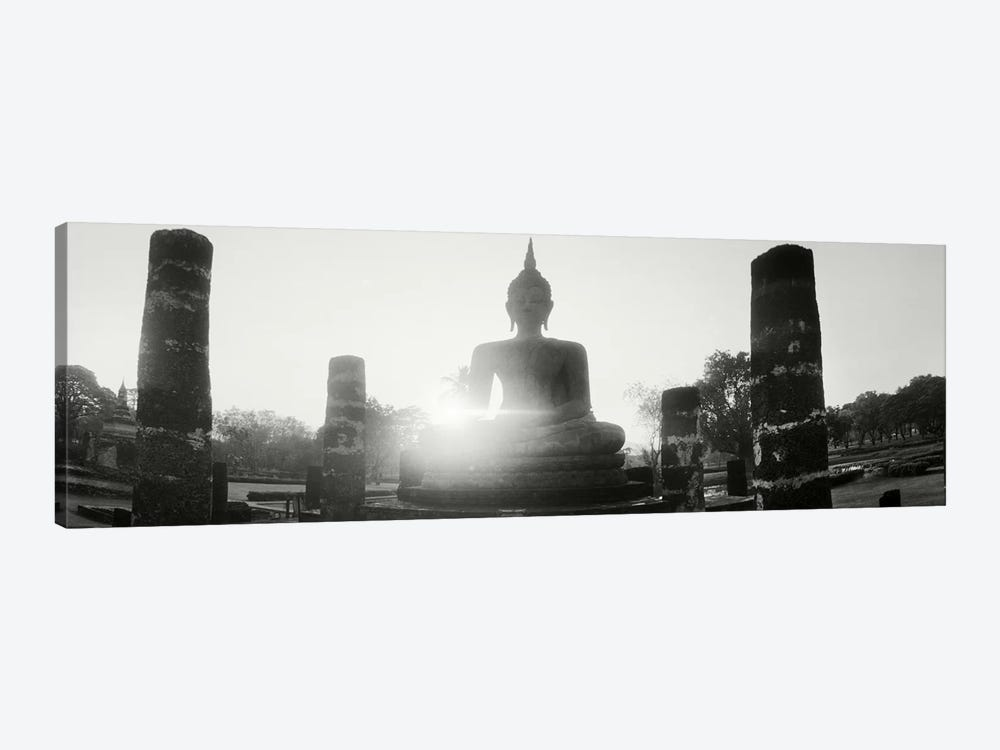 Statue of Buddha at sunset, Sukhothai Historical Park, Sukhothai, Thailand #3 by Panoramic Images 1-piece Art Print