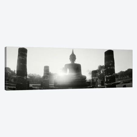 Statue of Buddha at sunset, Sukhothai Historical Park, Sukhothai, Thailand #3 Canvas Print #PIM10601} by Panoramic Images Canvas Art