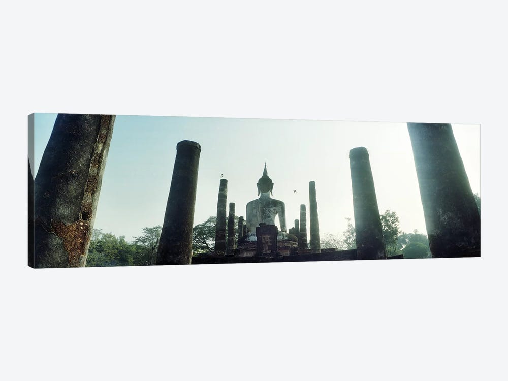 Statue of Buddha at a temple, Sukhothai Historical Park, Sukhothai, Thailand by Panoramic Images 1-piece Canvas Artwork