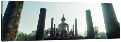 Statue of Buddha at a temple, Sukhothai Historical Park, Sukhothai, Thailand Canvas Art Print