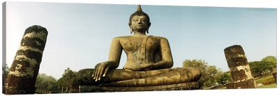 Low angle view of a statue of Buddha, Sukhothai Historical Park, Sukhothai, Thailand by Panoramic Images Canvas Wall Art