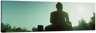 Low angle view of a statue of Buddha, Sukhothai Historical Park, Sukhothai, Thailand #2 Canvas Print #PIM10604
