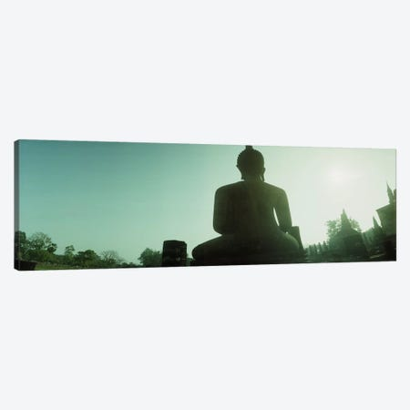 Low angle view of a statue of Buddha, Sukhothai Historical Park, Sukhothai, Thailand #2 Canvas Print #PIM10604} by Panoramic Images Art Print