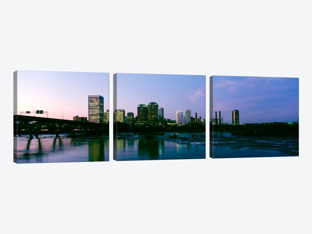 Downtown Skyline, Richmond, Virginia, USA 3-piece Art Print