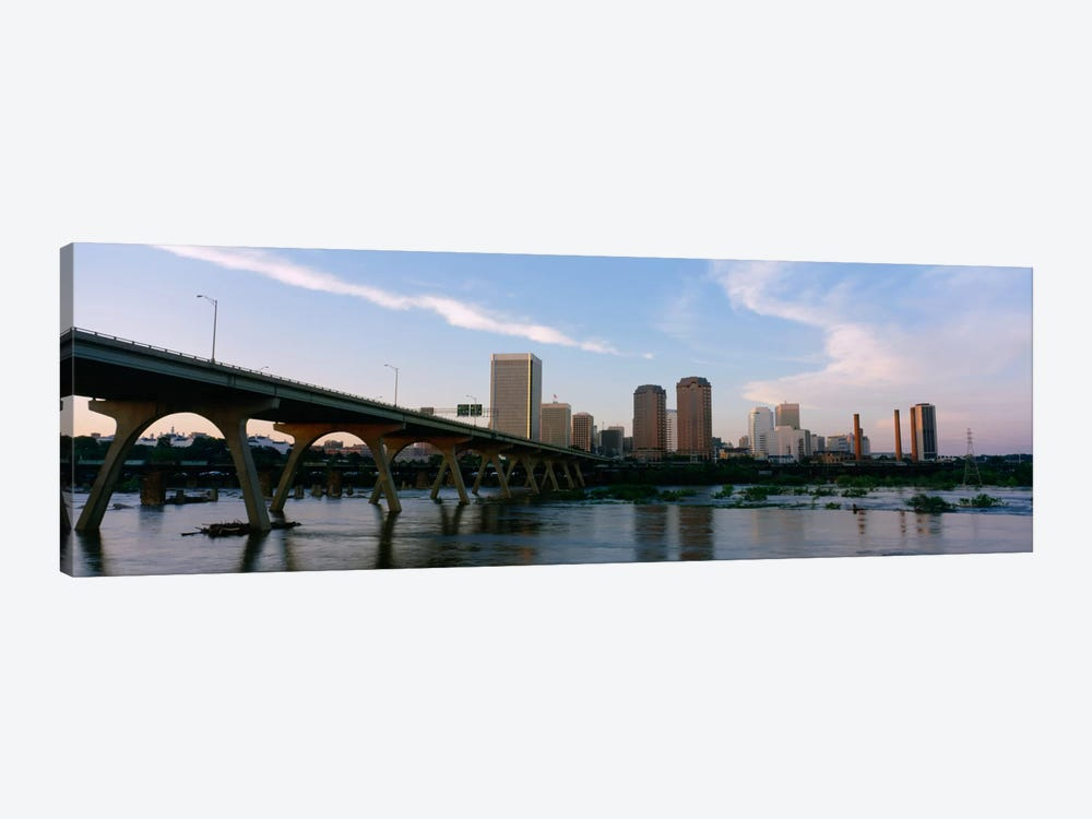 Manchester Bridge & Downtown Skyline, Richmond, Virginia, USA by Panoramic Images 1-piece Canvas Artwork