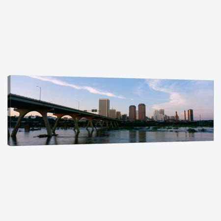 Manchester Bridge & Downtown Skyline, Richmond, Virginia, USA Canvas Print #PIM1062} by Panoramic Images Art Print