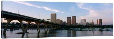 Manchester Bridge & Downtown Skyline, Richmond, Virginia, USA Canvas Art Print