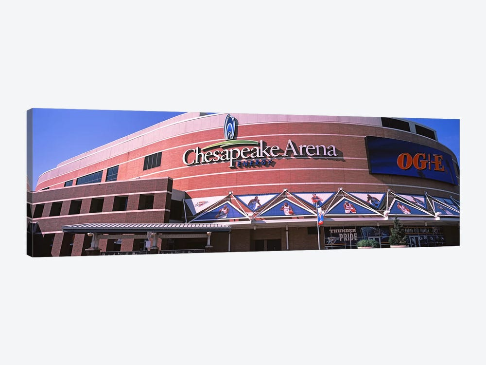 Low angle view of a stadium, Chesapeake Energy Arena, Oklahoma City, Oklahoma, USA by Panoramic Images 1-piece Canvas Art