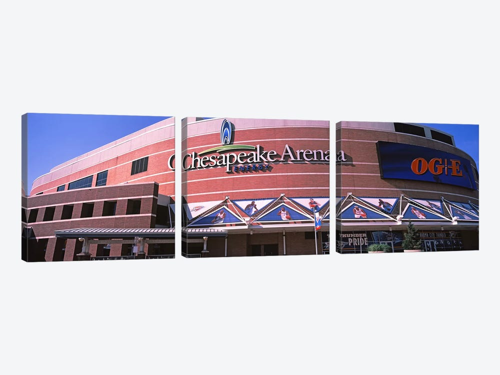 Low angle view of a stadium, Chesapeake Energy Arena, Oklahoma City, Oklahoma, USA by Panoramic Images 3-piece Canvas Wall Art
