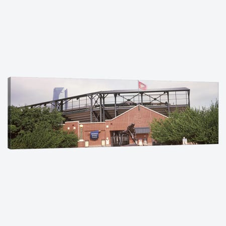 Warren Spahn Plaza at the Chickasaw Bricktown Ballpark, Oklahoma City, Oklahoma, USA Canvas Print #PIM10650} by Panoramic Images Art Print