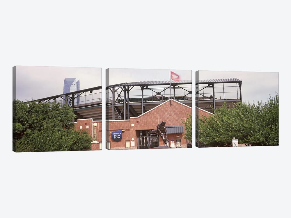 Warren Spahn Plaza at the Chickasaw Bricktown Ballpark, Oklahoma City, Oklahoma, USA by Panoramic Images 3-piece Canvas Print