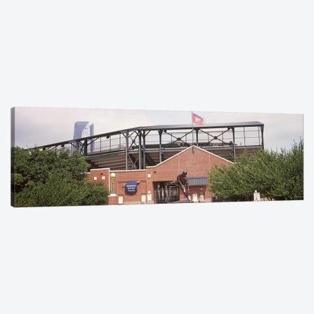 Warren Spahn Plaza at the Chickasaw Bricktown Ballpark, Oklahoma City, Oklahoma, USA Canvas Print #PIM10650} by Panoramic Images Art Print