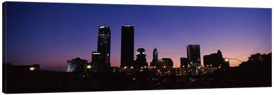 Downtown Skyline At Night, Oklahoma City, Oklahoma, USA Canvas Print #PIM10657