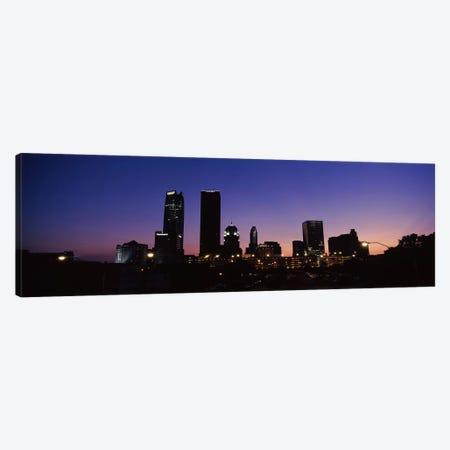 Downtown Skyline At Night, Oklahoma City, Oklahoma, USA Canvas Print #PIM10657} by Panoramic Images Canvas Artwork