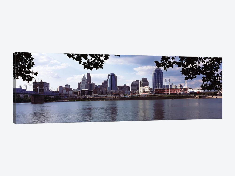 City at the waterfront, Ohio River, Cincinnati, Hamilton County, Ohio, USA by Panoramic Images 1-piece Canvas Print