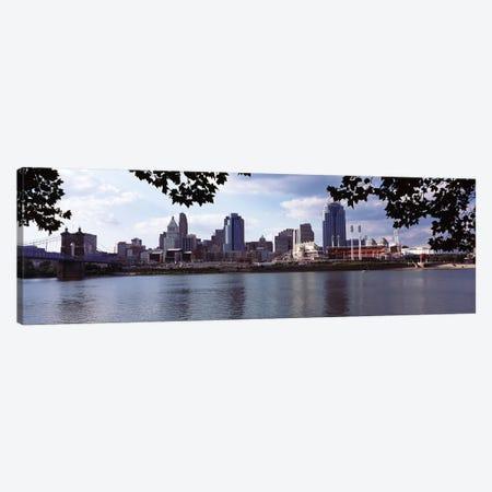 City at the waterfront, Ohio River, Cincinnati, Hamilton County, Ohio, USA Canvas Print #PIM10667} by Panoramic Images Art Print