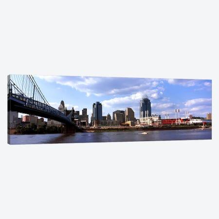 Bridge across the Ohio RiverCincinnati, Hamilton County, Ohio, USA Canvas Print #PIM10668} by Panoramic Images Canvas Art