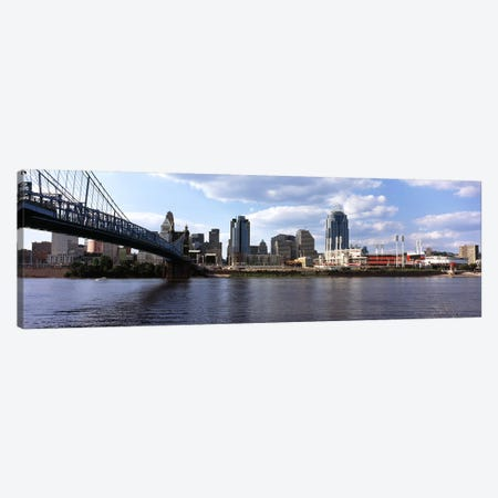 Bridge across the Ohio River, Cincinnati, Hamilton County, Ohio, USA Canvas Print #PIM10669} by Panoramic Images Canvas Wall Art