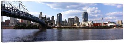 Bridge across the Ohio River, Cincinnati, Hamilton County, Ohio, USA Canvas Art Print