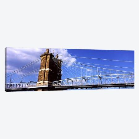 John A. Roebling Suspension Bridge across the Ohio River, Cincinnati, Hamilton County, Ohio, USA #3 Canvas Print #PIM10672} by Panoramic Images Canvas Art Print