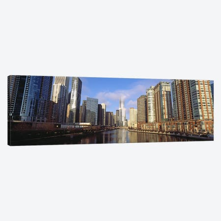 Skyscraper in a city, Trump Tower, Chicago, Cook County, Illinois, USA Canvas Print #PIM10677} by Panoramic Images Canvas Artwork