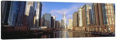 Skyscraper in a city, Trump Tower, Chicago, Cook County, Illinois, USA Canvas Print #PIM10677