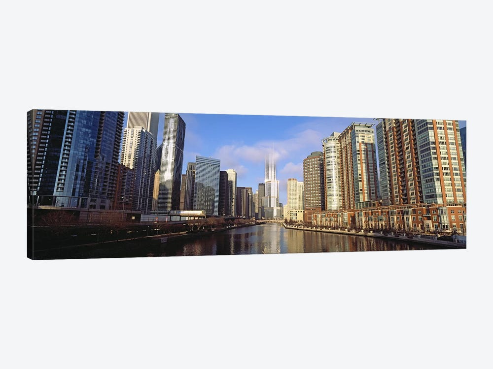 Skyscraper in a city, Trump Tower, Chicago, Cook County, Illinois, USA by Panoramic Images 1-piece Canvas Artwork