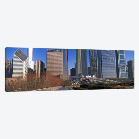 Millennium Park with buildings in the background, Chicago, Cook County, Illinois, USA Canvas Print #PIM10679} by Panoramic Images Art Print