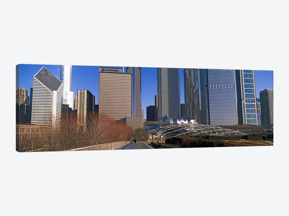 Millennium Park with buildings in the background, Chicago, Cook County, Illinois, USA by Panoramic Images 1-piece Canvas Artwork