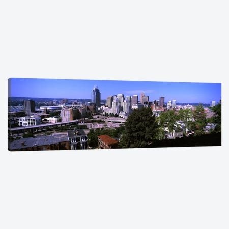 Downtown skyline, Cincinnati, Hamilton County, Ohio, USA Canvas Print #PIM10709} by Panoramic Images Art Print