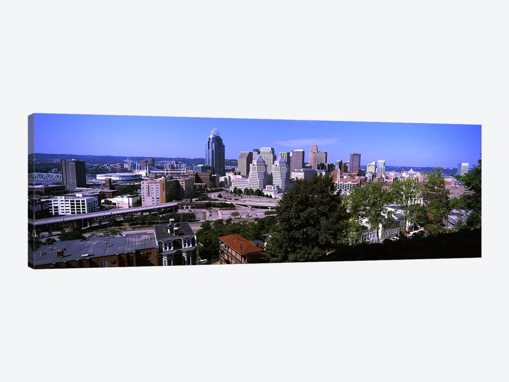 Downtown skyline, Cincinnati, Hamilton County, Ohio, USA by Panoramic Images 1-piece Canvas Art