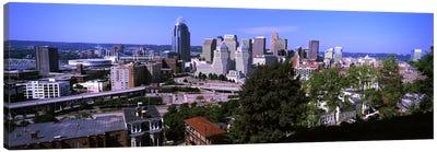 Downtown skyline, Cincinnati, Hamilton County, Ohio, USA Canvas Art Print