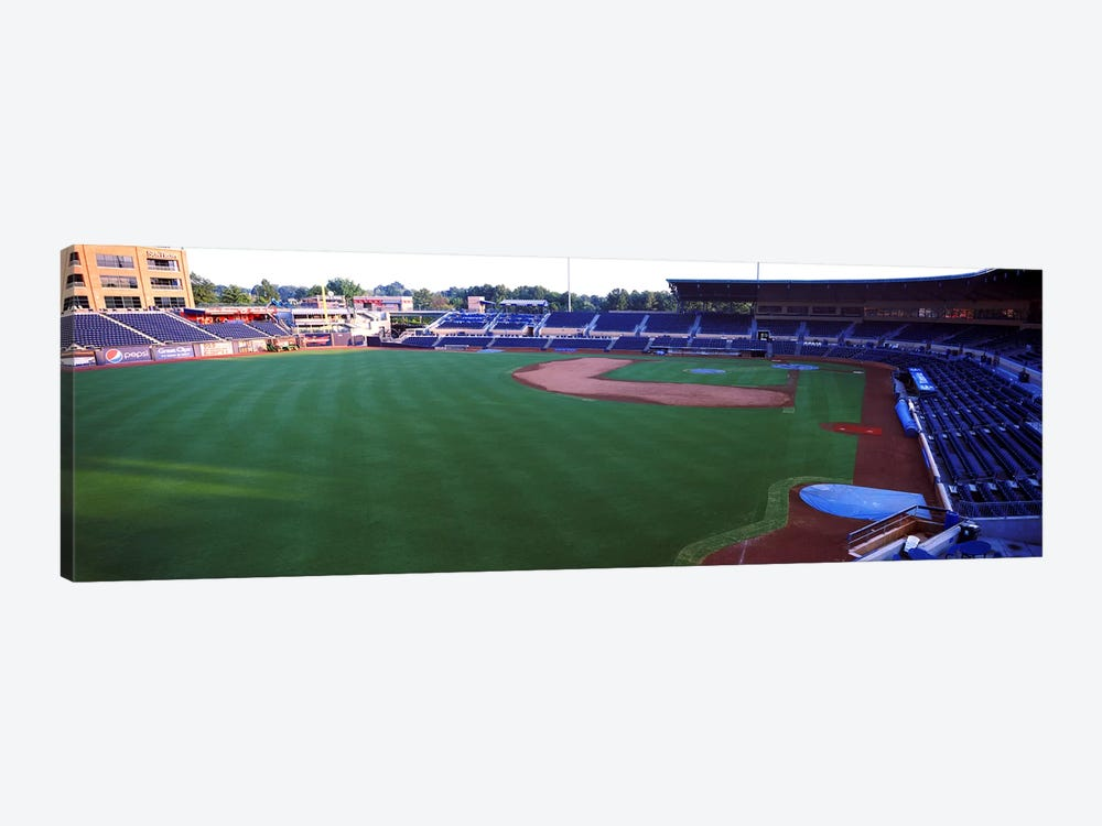 Baseball stadium in a city, Durham Bulls Athletic Park, Durham, Durham County, North Carolina, USA by Panoramic Images 1-piece Canvas Artwork