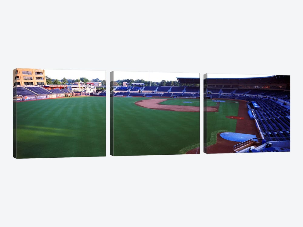 Baseball stadium in a city, Durham Bulls Athletic Park, Durham, Durham County, North Carolina, USA by Panoramic Images 3-piece Canvas Artwork