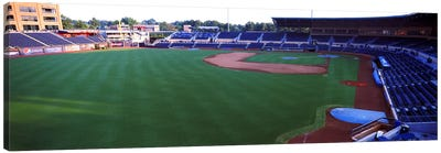 Baseball stadium in a city, Durham Bulls Athletic Park, Durham, Durham County, North Carolina, USA Canvas Art Print