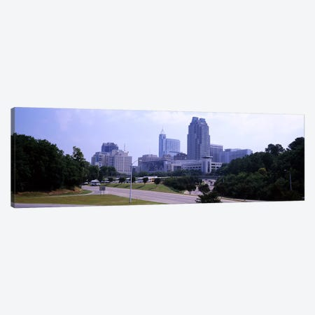 Street scene with buildings in a city, Raleigh, Wake County, North Carolina, USA Canvas Print #PIM10713} by Panoramic Images Canvas Wall Art
