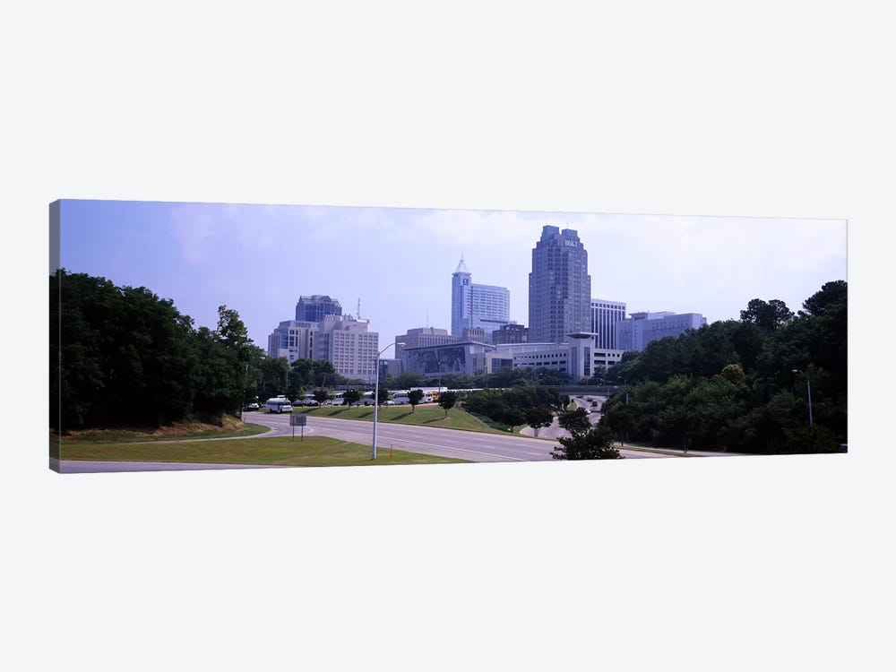 Street scene with buildings in a city, Raleigh, Wake County, North Carolina, USA by Panoramic Images 1-piece Canvas Art Print