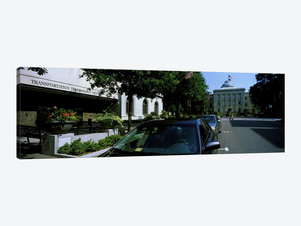 Cars parked in front of Transportation Technology Center, Raleigh, Wake County, North Carolina, USA by Panoramic Images 1-piece Canvas Artwork