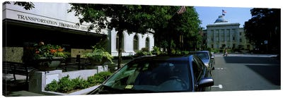 Cars parked in front of Transportation Technology Center, Raleigh, Wake County, North Carolina, USA Canvas Art Print