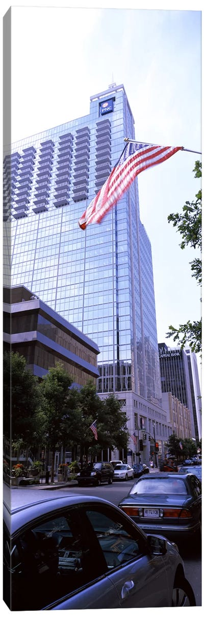 Skyscraper in a city, PNC Plaza, Raleigh, Wake County, North Carolina, USA Canvas Print #PIM10715