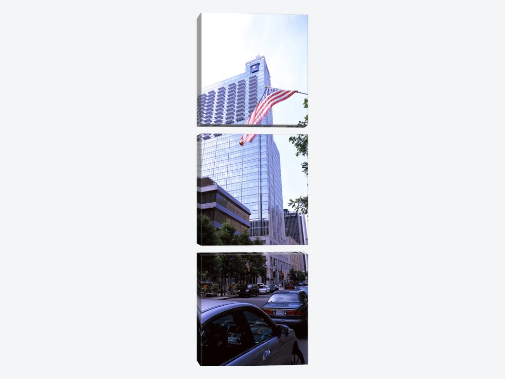 Skyscraper in a city, PNC Plaza, Raleigh, Wake County, North Carolina, USA by Panoramic Images 3-piece Art Print
