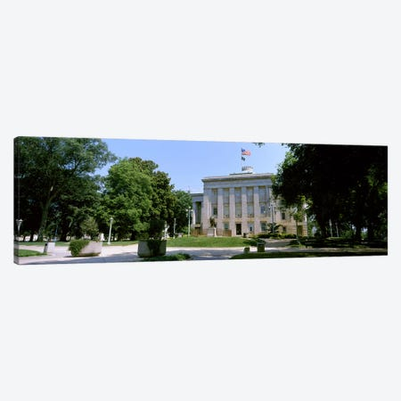 Government building in a city, City Hall, Raleigh, Wake County, North Carolina, USA 3-Piece Canvas #PIM10716} by Panoramic Images Art Print