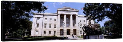 Facade of a government building, City Hall, Raleigh, Wake County, North Carolina, USA Canvas Art Print